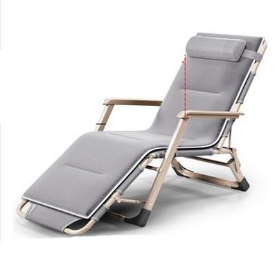 Dual Purpose Soft Sun Rest Lounger Thicken Cushion Folding Chair Office Leisure Lying Bed Single Bed Balcony Beach Chair