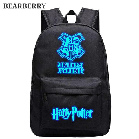 $32.52- Bearberry Harry Potter Nylon Backpacks Luminous Student School Bag Boy Travel Bags Children Girl Backpacks 13 Styles