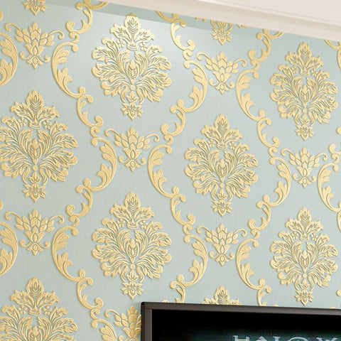 designer home wallpaper. European Style Nonwoven Wallpaper Luxury Damask 3D Stereoscopic Relief  Damascus Bedroom Living Room Wall Paper Home Decor Shop For Iconic At ICON2 Designer Elements
