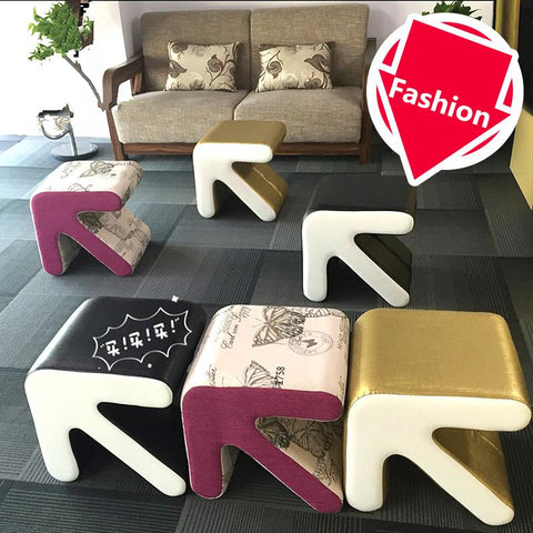$190.74- Fashion Creative Stool Household Furniture Arrow Type European Shoes Stool Chair Small Sofa Table Seat Living Room Footstool