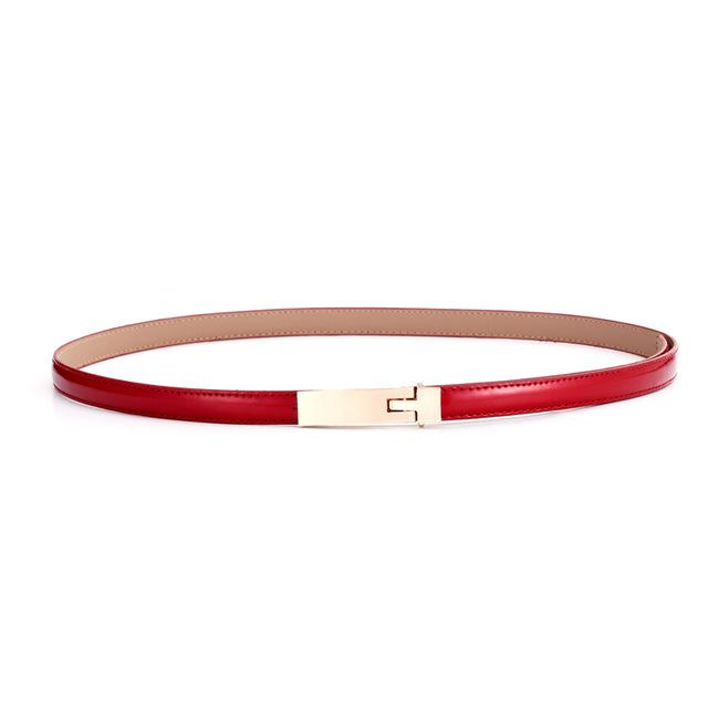$10.67- Belts For Women Classic Wild Female Minimalist Thin Belt Women'S Belt Leather Belts Cinturon Hombre Cinto Feminino