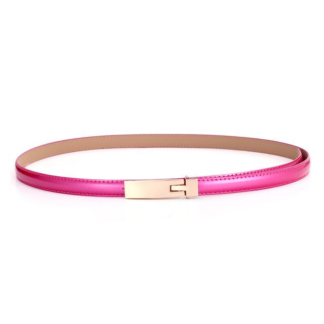 $10.26- Belts For Women Classic Wild Female Minimalist Thin Belt Women'S Belt Leather Belts Cinturon Hombre Cinto Feminino