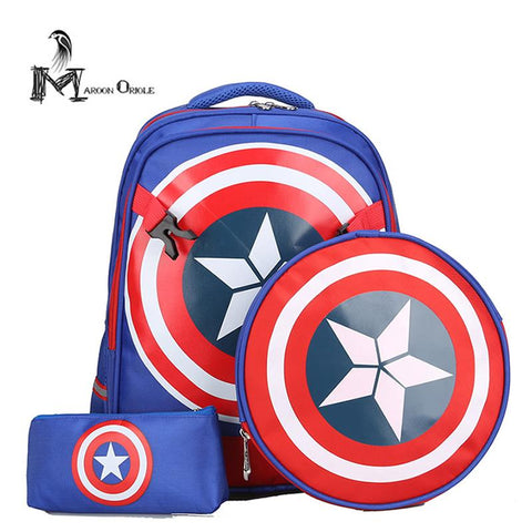 $55.80- Boys Backpack Primary School Bag Backpack Child School Bag For Boys Shield Bag Slimming Waterproof Backpack Set