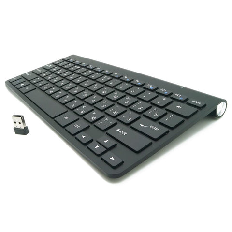 Russian Keyboard Ultra Slim Mute Wireless Keyboard Scissors 2.4G Keyboard For Mac Windows Xp 8 7 10 Vista roid Tv Box