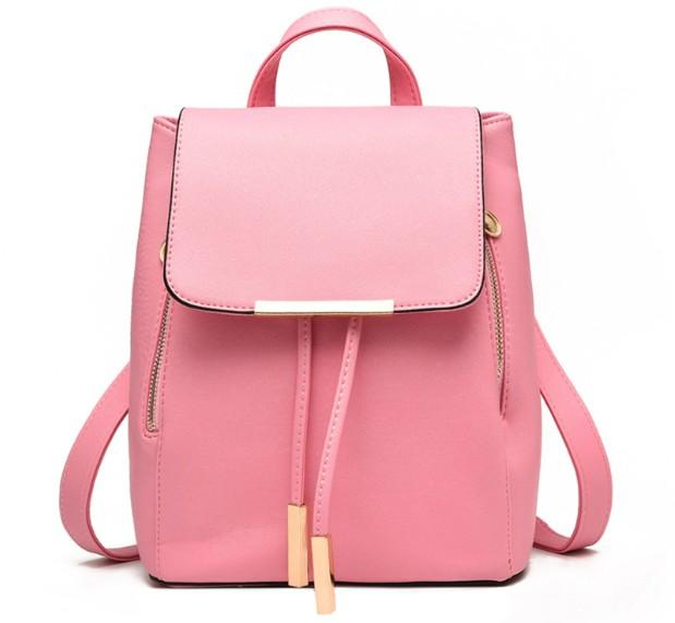$41.04- Briggs New Women Backpack For Teenage Girls Preppy Style School Bag Pu Leather Backpacks Ladies High Quality TopHandle Backpack