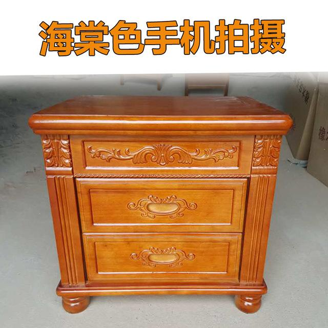 Buy Bedside Cabinet Is Simple Modern Solid Wood Equipped W/ Bedroom ...