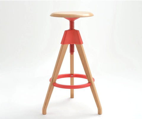 $361.15- Fashion Bar Stool Lifting Wood Chair Hotel Restaurant Stool Red White Black Color