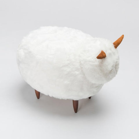 $636.32- High Quality Snow Underfur Beautiful Sheep Skin Chair for Children