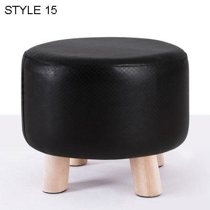 $171.97- Modern Fashion Stool Solid Wood Small Sench Washable Fabric Sofa Stool Creative Low Stool Detachable Wash Shoe Stool 32*28Cm