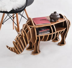 $333.96- Highend S Size Rhino Table Wood Furniture Selfbuild Puzzle Furniture