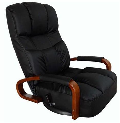 Floor Swivel Recliner Chair 360 Degree Rotation Living Room Furniture Modern Japanese Design Leather Armchair Chaise Lounge