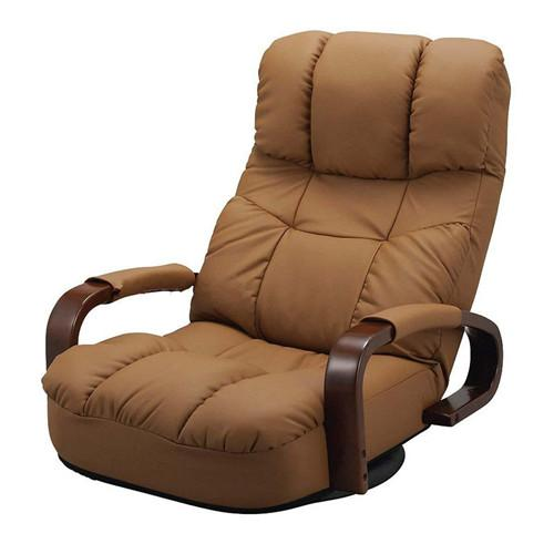 $545.60- Floor Swivel Recliner Chair 360 Degree Rotation Living Room Furniture Modern Japanese Design Leather Armchair Chaise Lounge