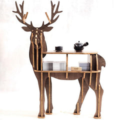 $347.03- New Highend S Size Lookback Reindeer Table Wooden Home Furniture Selfbuild Puzzle Furniture