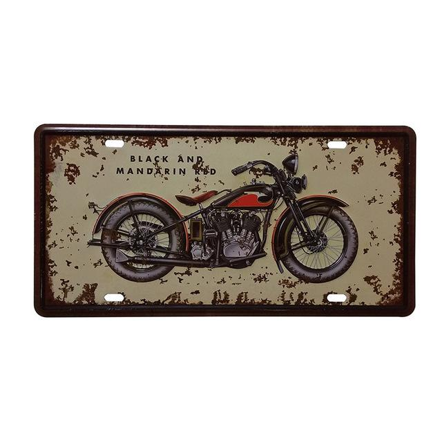 $9.90- Shabby Chic Retro Motorcycle Commercial Painting Vintage Car Tin Plate Tin Sign Bar Pub Home Wall Decor Metal Postr 30X15Cm A547