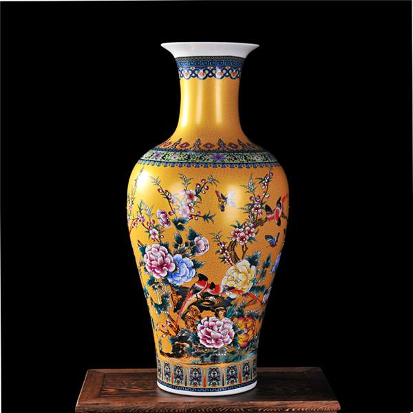 Buy Luxury Jingdezhen Antique Porcelain Enamel Fish Tail Shape Vase