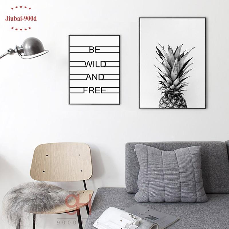 $10.56- 900D Posters Prints Wall Art Canvas Painting Wall Pictures For Living Room Nordic Decoration Pineapple Nor5