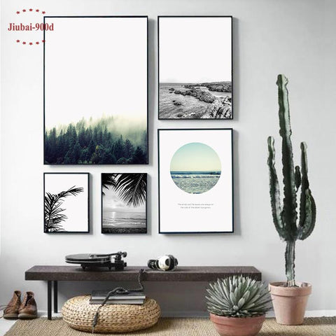$10.70- Nordic Landscape Canvas Art Print Painting Poster Giclee Print Wall Pictures For Home Decoration Wall Decor Bw005
