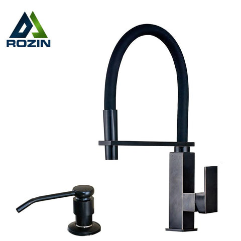 $193.07- Best quality Single Lever Deck Mounted Kitchen Water Faucet with Kitchen Sink Soap Dispenser Oil Rubbed Bronze Hot and Cold Tap