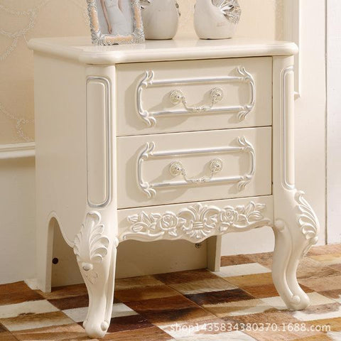 $462.64- European Table Carved Bedside Locker s ing French Living Room Furniture