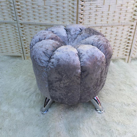 $177.23- High quality modern fashion shoes stool chair sofa outdoor home upholstered stool ottoman comfortable round pouffe footstool
