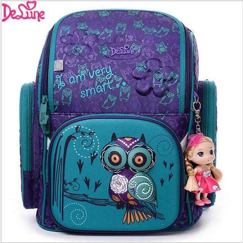 $68.40- Brand Delune New Girl School Bags 3D Cute Bear Flower Pattern Waterproof Orthopedic Backpack Schoolbag Mochila Infantil