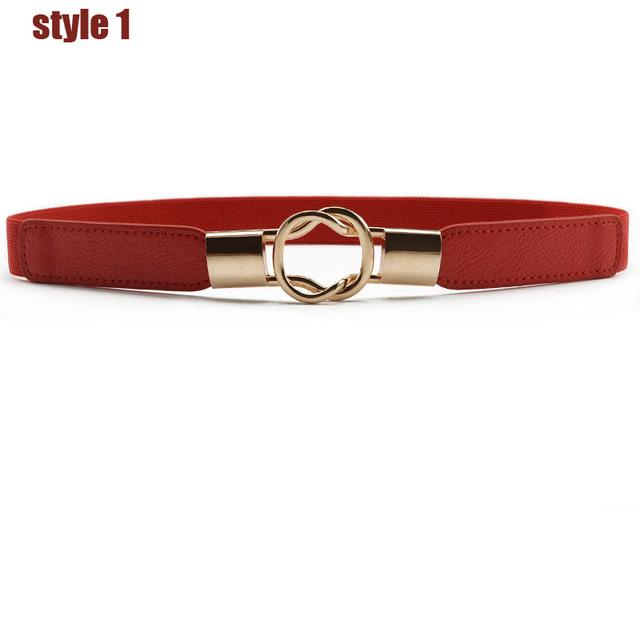 $13.11- Designer Women Brand Fashion Women Stretch Belt Elastic Hasp Buckles Wide Belts For Women Strap Designer Female Cummerbund B116