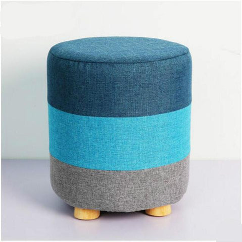 $186.15- High quality modern fashion creative shoes stool small wooden sofa stool outdoor fabric chair seat shoe footstool ottoman