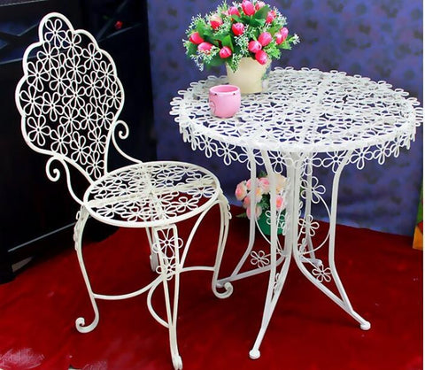 Iron art plum blossom coffee chair dining chair bar outdoor table and chair