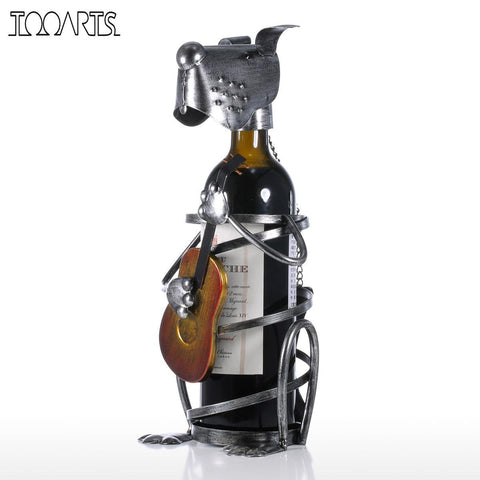 $44.95- Tooarts Puppy Wine Rack W/ Music Band Modern Animal Figurine Wine Holders Creative Wine Stand Gift Home Decoration Accessories