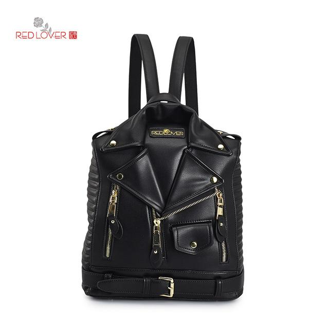 $50.38- New Backpack Women Bag Pu Leather Backpack Fashion Personality Designed School Backpack Travel Bags A