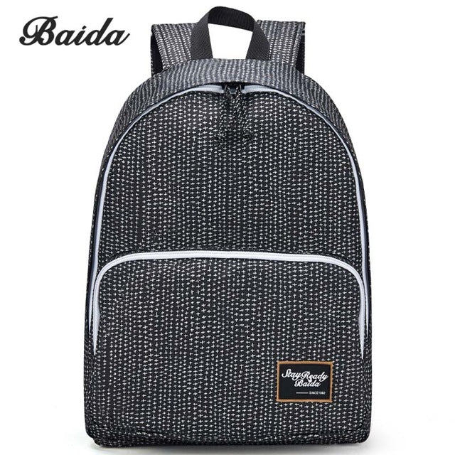 $38.36- Baida Fashion Women Backpack High Quality Notebook Bolsa Mochila Laptop Computer Female Bags Travel School Daypack For College