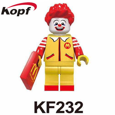 $1.52- Single Super Heroes Ronald Mcdonald Mr. Kentucky Colonel Harland Sanders Assemble Building Blocks Children Gift Toys Kf232