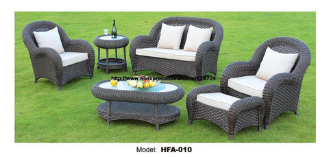 $2478.45- Luxury Rattan Furniture Handmake Cane Outdoor Garden Sofa Set Outdoor Table Chair Sofa Ottoman 2016 Hot Classic Sofa