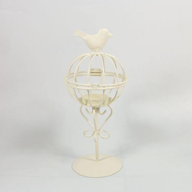 Moroccandecor Bird Cage Design Iron Candle Holder Lantern Candle Stand Candlestick Wedding Home Desk Decor Sconce Candle Lantern
