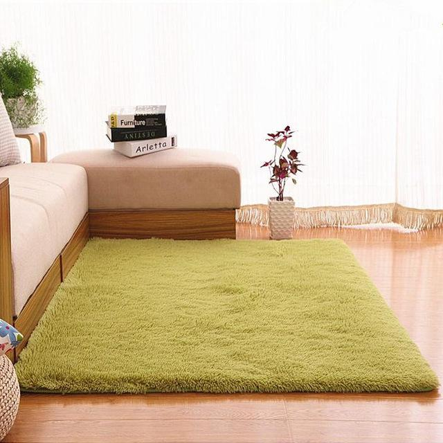 Plush Fabric Antislip Mat Thick Floor Carpets For Living Room Plain Color Bathroom Water Absorption Floor Rug Mat Cuatom Size