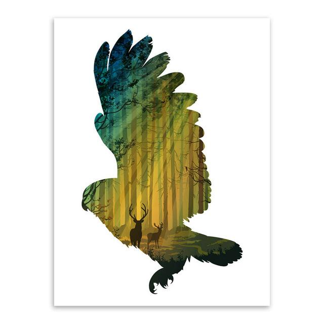 Buy Animals Forest Wall Art Wall Decor Wall Picture Canvas Prints ...