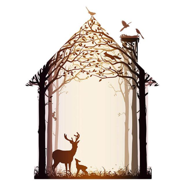 $2.64- Animals Forest Wall Art Wall Decor Wall Picture Canvas Prints Canvas Art Poster Oil Paintings For Living Room Wall No Frame