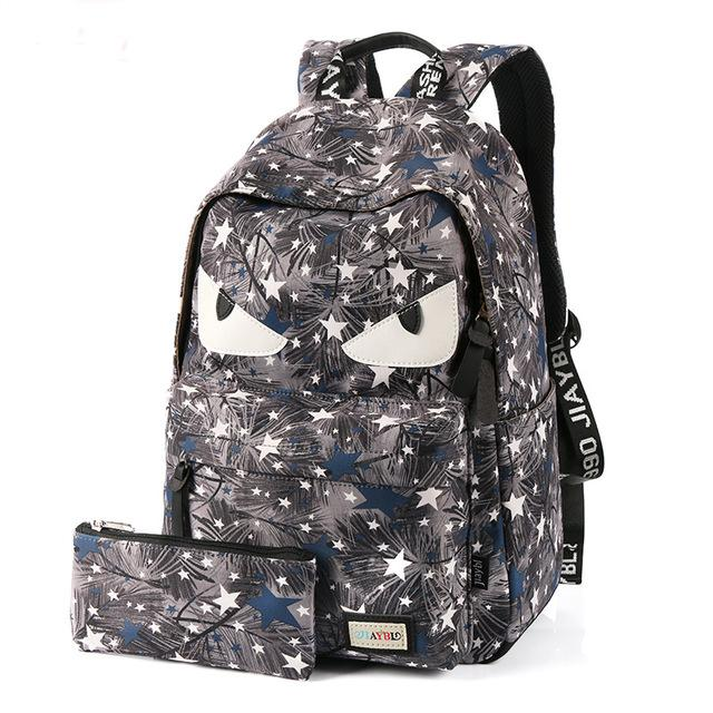 $46.06- Veevanv Demon Eyes Bag New Monster Backpack Little Devil School Bags For Teenage Girls Cartoon Printing Backpacks Boy Bags