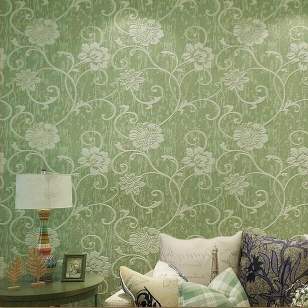 $61.13- America Country Blue Flower Wallpaper Wall Paper 3D Papel De Parede Branco