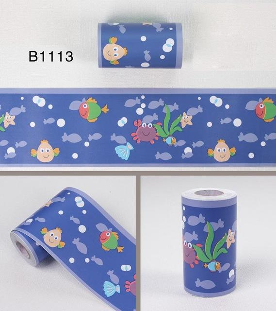 $18.94- Bathroom Waterproof Waistline Wall Stickers Room Kids Decor Murals Self Adhesive Wall Paper Borders Pvc Stickers Wallpaper Roll