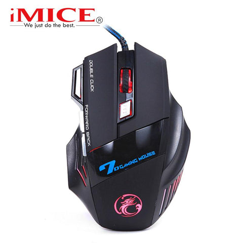 $15.22- Imice Wired Gaming Mouse 7 Button 5500Dpi Led Optical Usb Cable Computer Mouse Gamer Mice For Pc Laptop Desktop X7