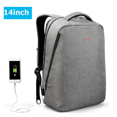 $56.30- Tigernu Brand Usb Charging Backpack Men Light Slim Minimalist Fashion Women Backpack School Bag 14 17 Laptop Backpack