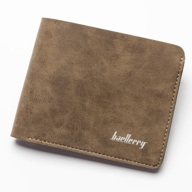 $17.08- Baellerry Brand Wallets Men Standard Short Purses Slim Design Money Bags Male Credit Card Holders New Arrival Wallets For Gift