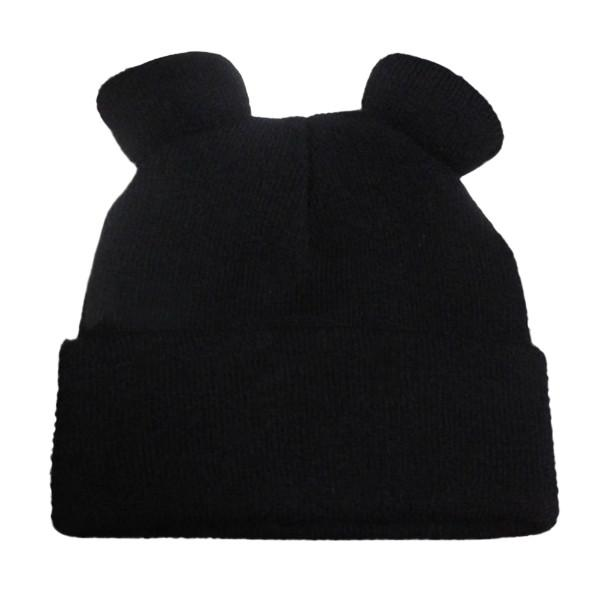 $5.23- Women's Winter Hats Warm Knitted Braid Hat W/ Ears Women's Hat Knit Caps Female Beanies Hiphop Skullies Bonnet Femme