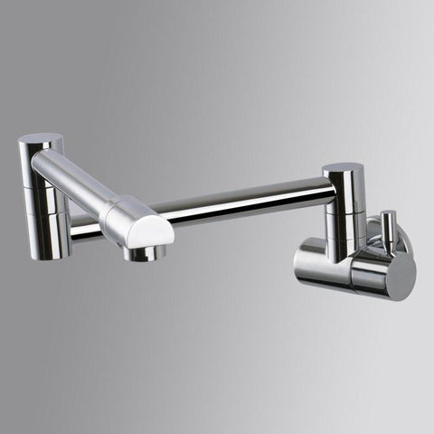 $71.60- shipping Brass kitchen faucet Single Handle Pot Filler Faucet Swing Spout Wall Mount cold bathroom chrome tap SF405a