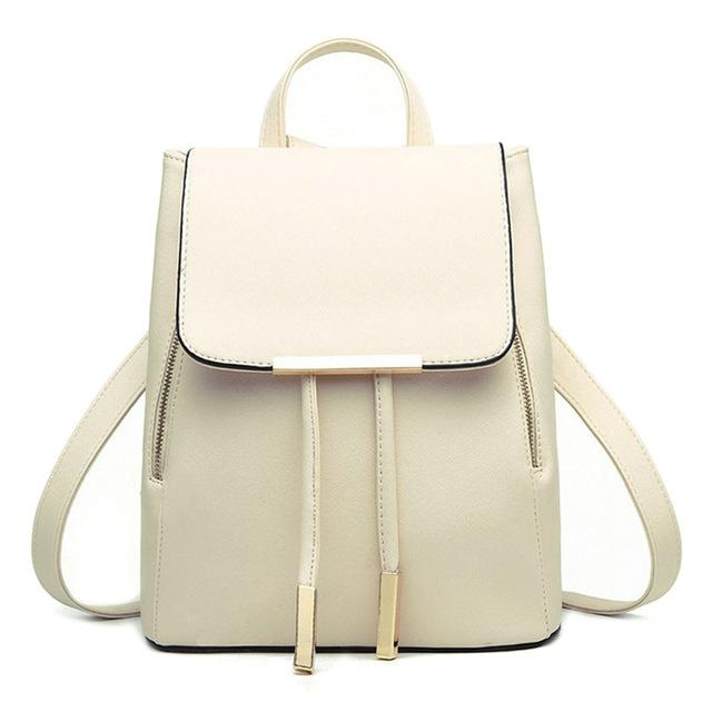 $27.68- Black School Supplies Backpack Female Pu Leather Japanese Street Bag Women'S Handbags School Bag For Adolescent Girls