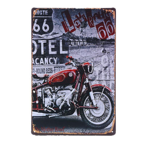 $7.52- Vintage Car Motorcycles Garage Metal Tin Sign Bar Pub Home Wall Decor Shabby Chic Art Poster Plaque Plate 30X20Cm A691