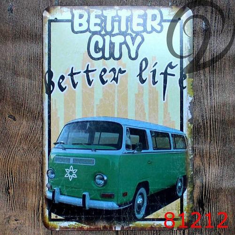 $14.26- Volkswagen Public Car Vintage Decorative Plates Home Bar Pub Cafe Restaurant Decor Shabby Chic Vintage Home Decor Tin Signs