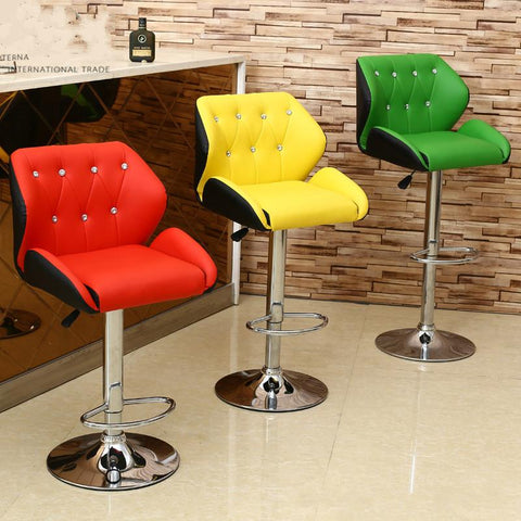 Simple Design Lifting Swivel Chair Bar Counter Dinning Chair W/ Footrest Cafe Restaurant Ergonomic Cadeira High Quality Simple