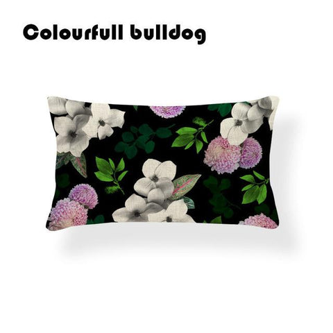 $6.82- Modern Nordic Style Cactus Pillow Cushion Case Retro Flamingo Euro Almofadas Fundas Square Linen Decor Summer Fronha Travesseiro